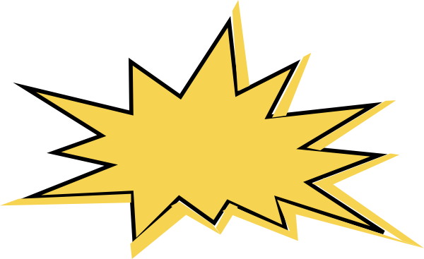 Comic burst png. Yellow star clip art