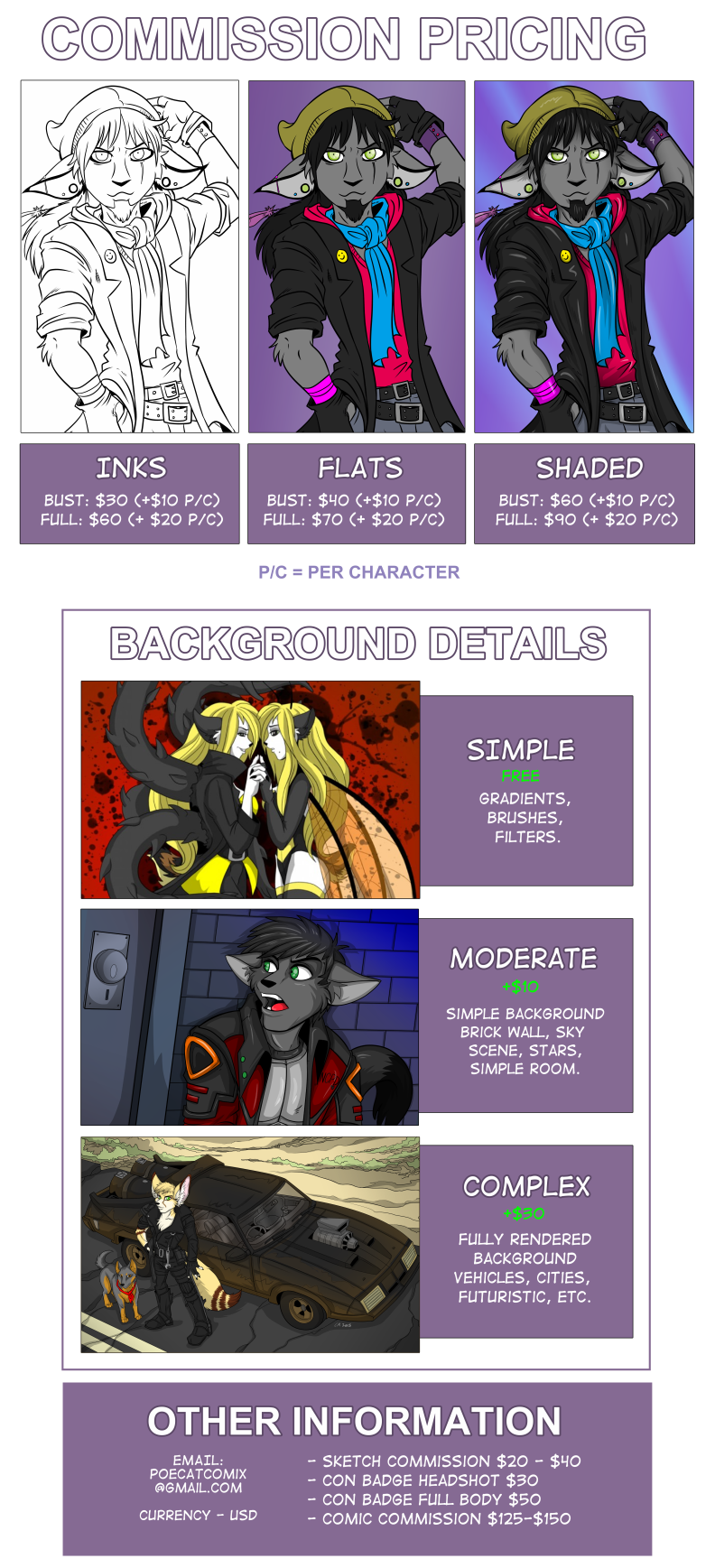 Commissions tos poecatcomix commissionpricing. Commission drawing banner library download