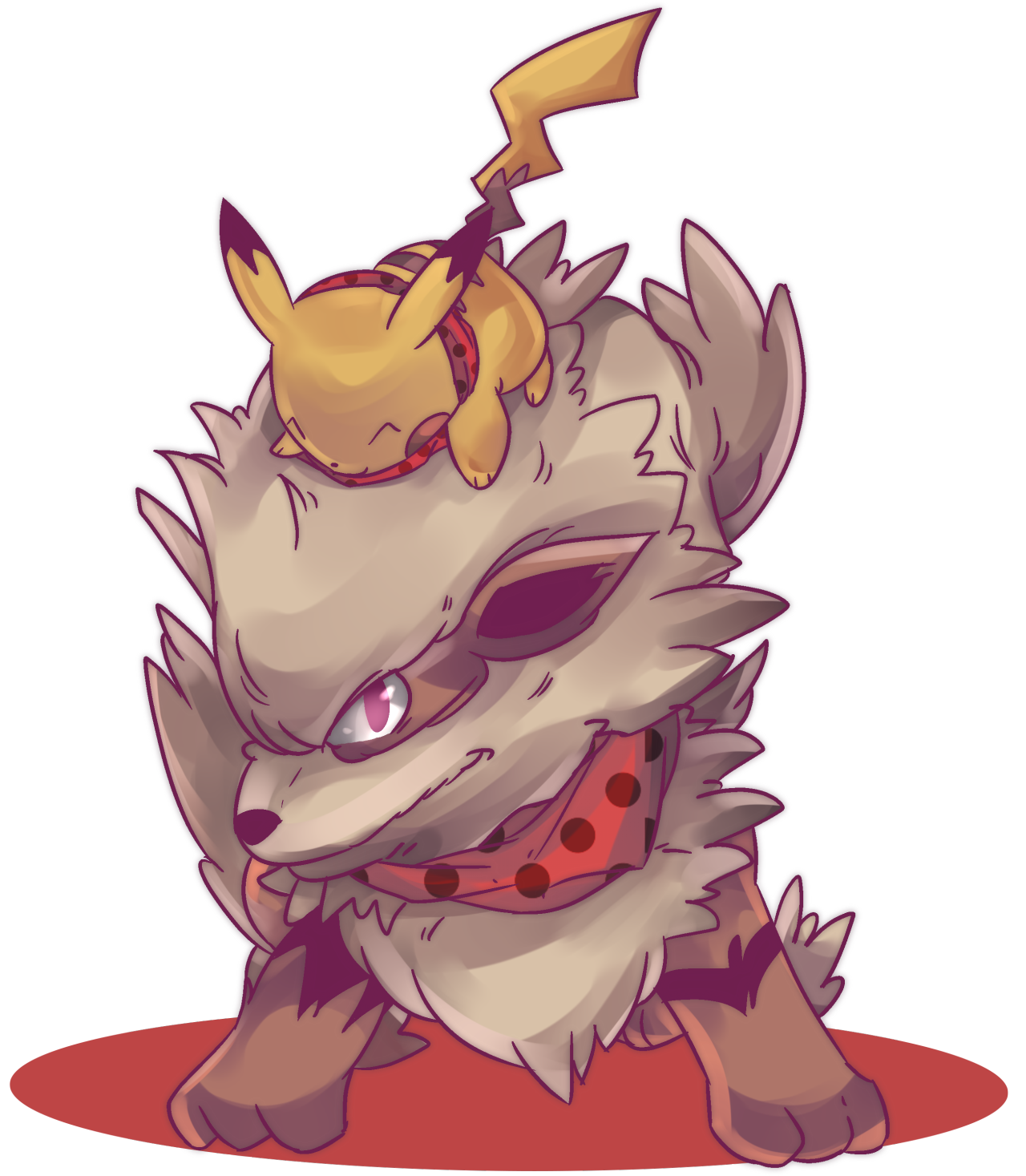 Commission drawing tumblr post. Custom windie arcanine and