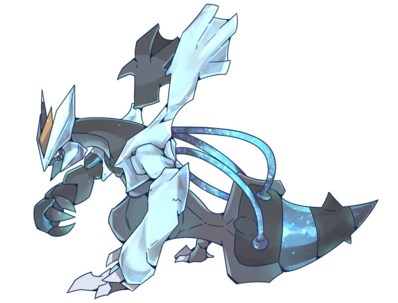 Commission drawing tumblr post. Black kyurem by autobottesla