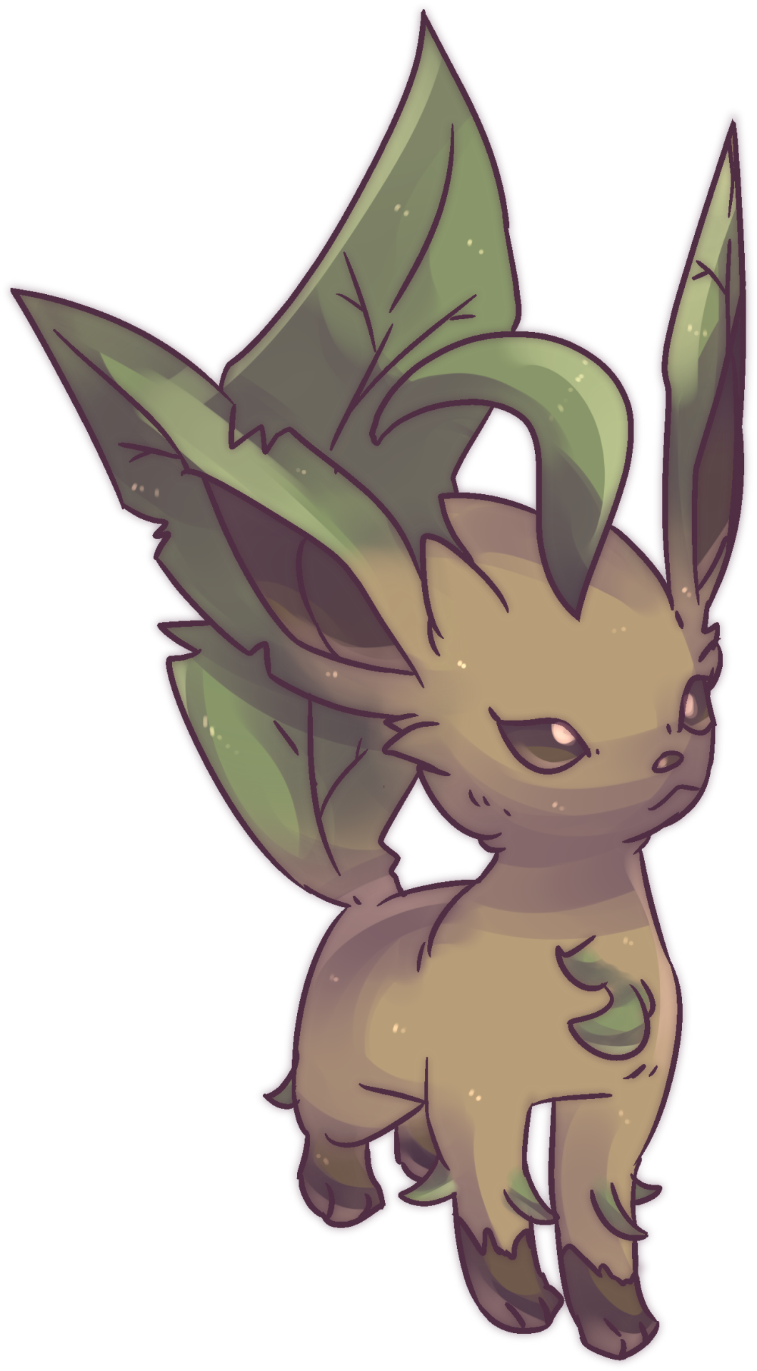 Commission drawing tumblr post. Hanako s leafia leafeon