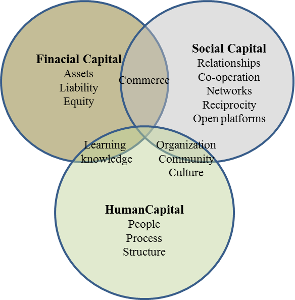 Communication transparent business environment. In social capital during