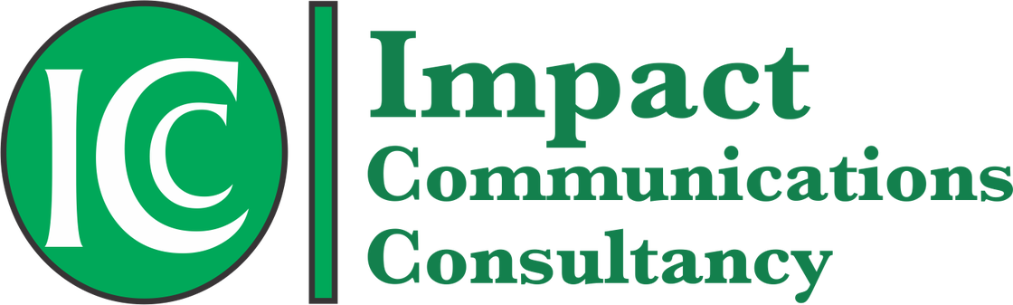 Communication transparent impact. Communications consultancy icc logo