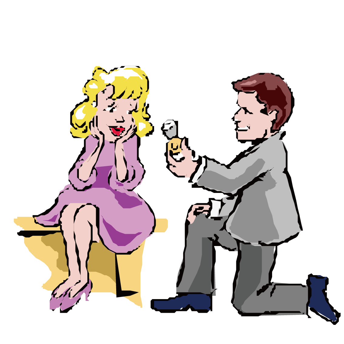 Communication transparent marriage. Animation marry a man