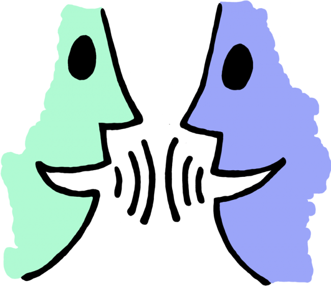 Communication vector effective. Talking person svg