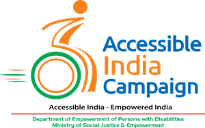 Communication vector campaign. Accessible india logo eps