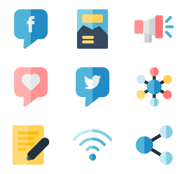 Communication vector colorful. Information icon packs