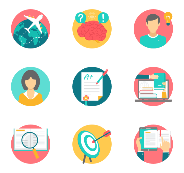 Communication vector education. Free icons svg eps