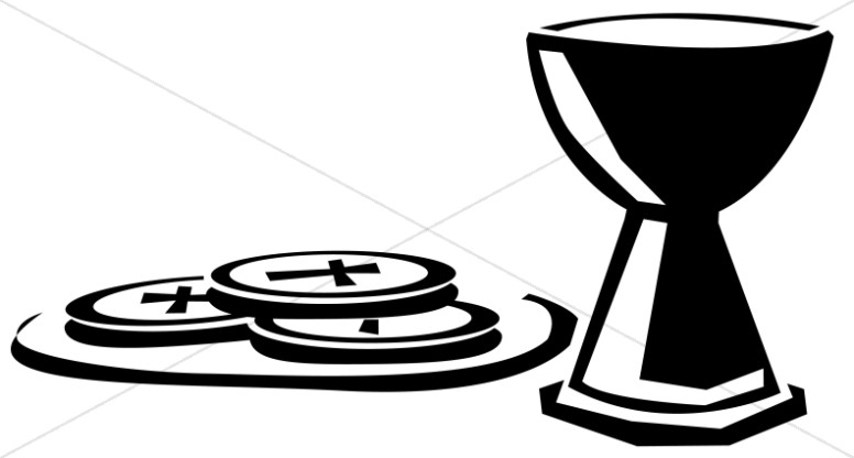Communion clipart. Simple wafers and cup