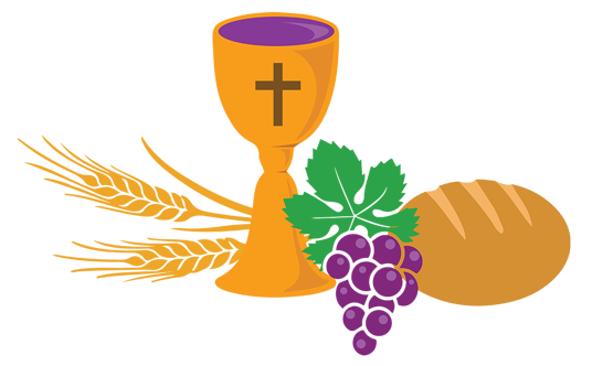Religious vector first communion. Eucharist flame of faith