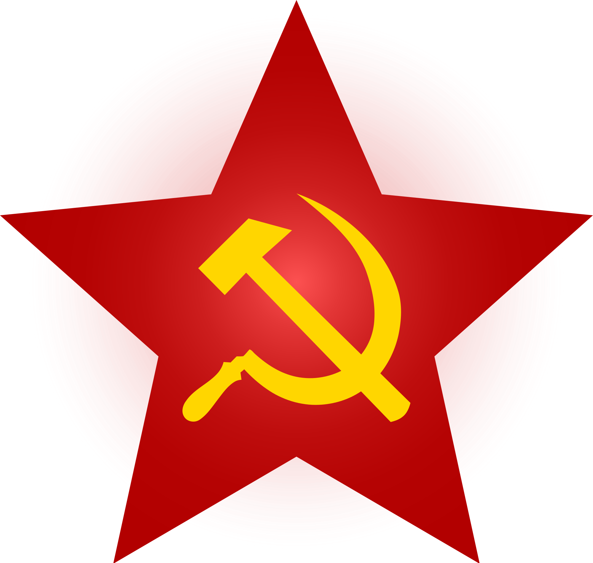 Communist hammer and sickle png. File red star with