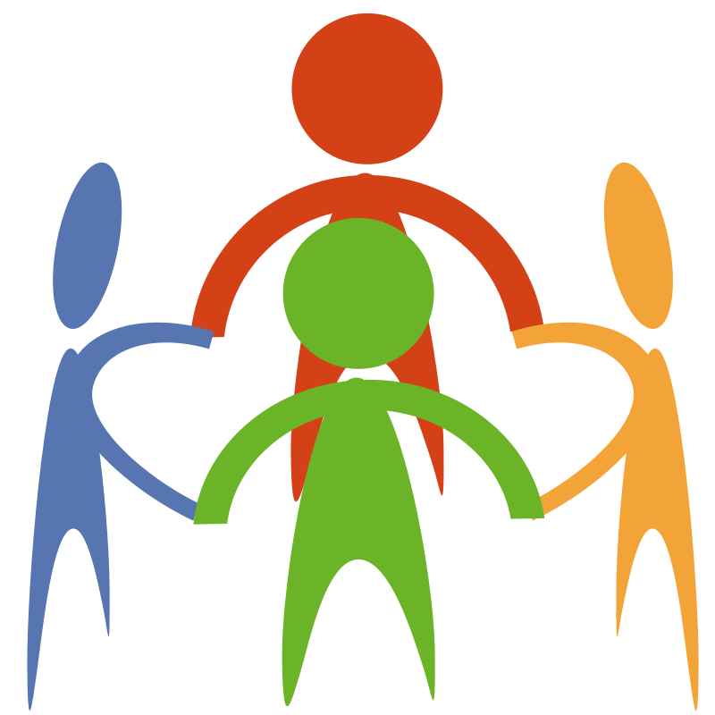 Community . Teamwork clipart picture black and white
