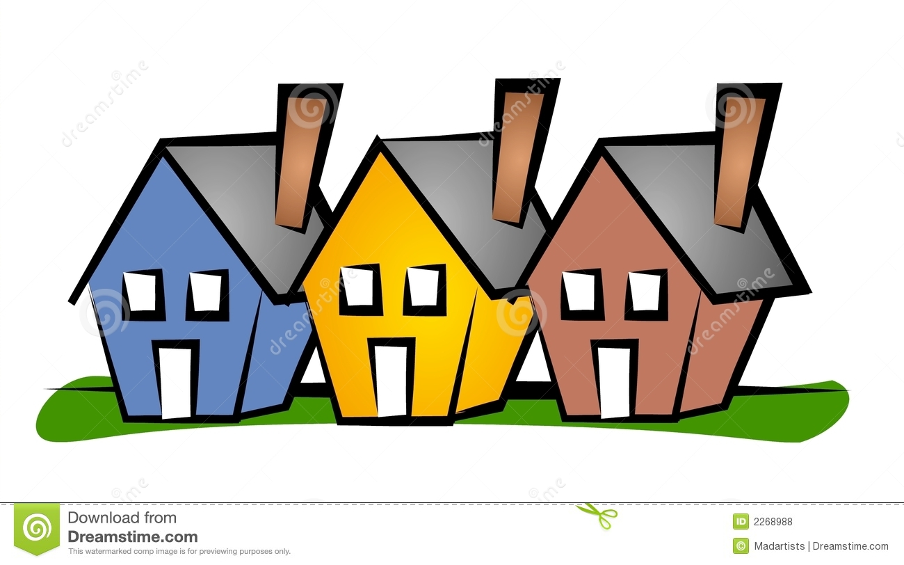 Community clipart residential community. Housing