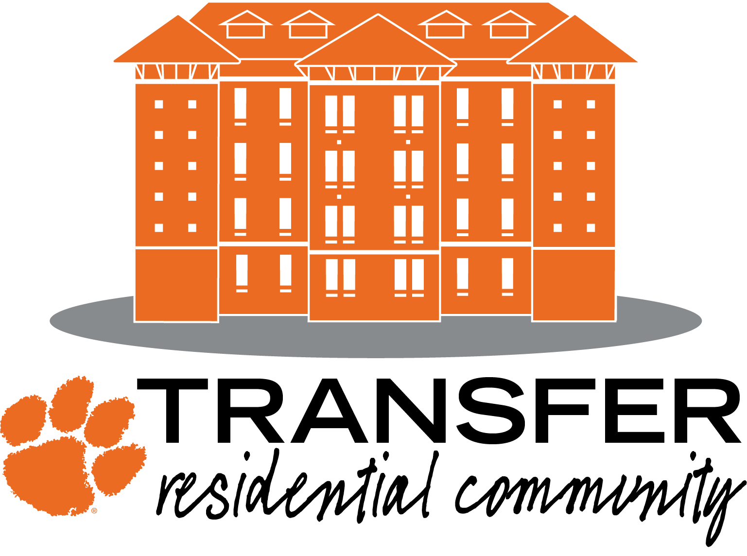 Community clipart residential community. Transfer clemson home logo