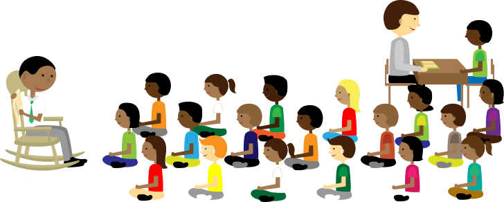 Community transparent classroom. Collection of free facilitated