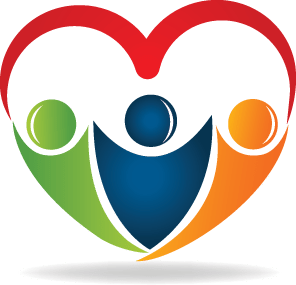 Community transparent heart. Home care partners in
