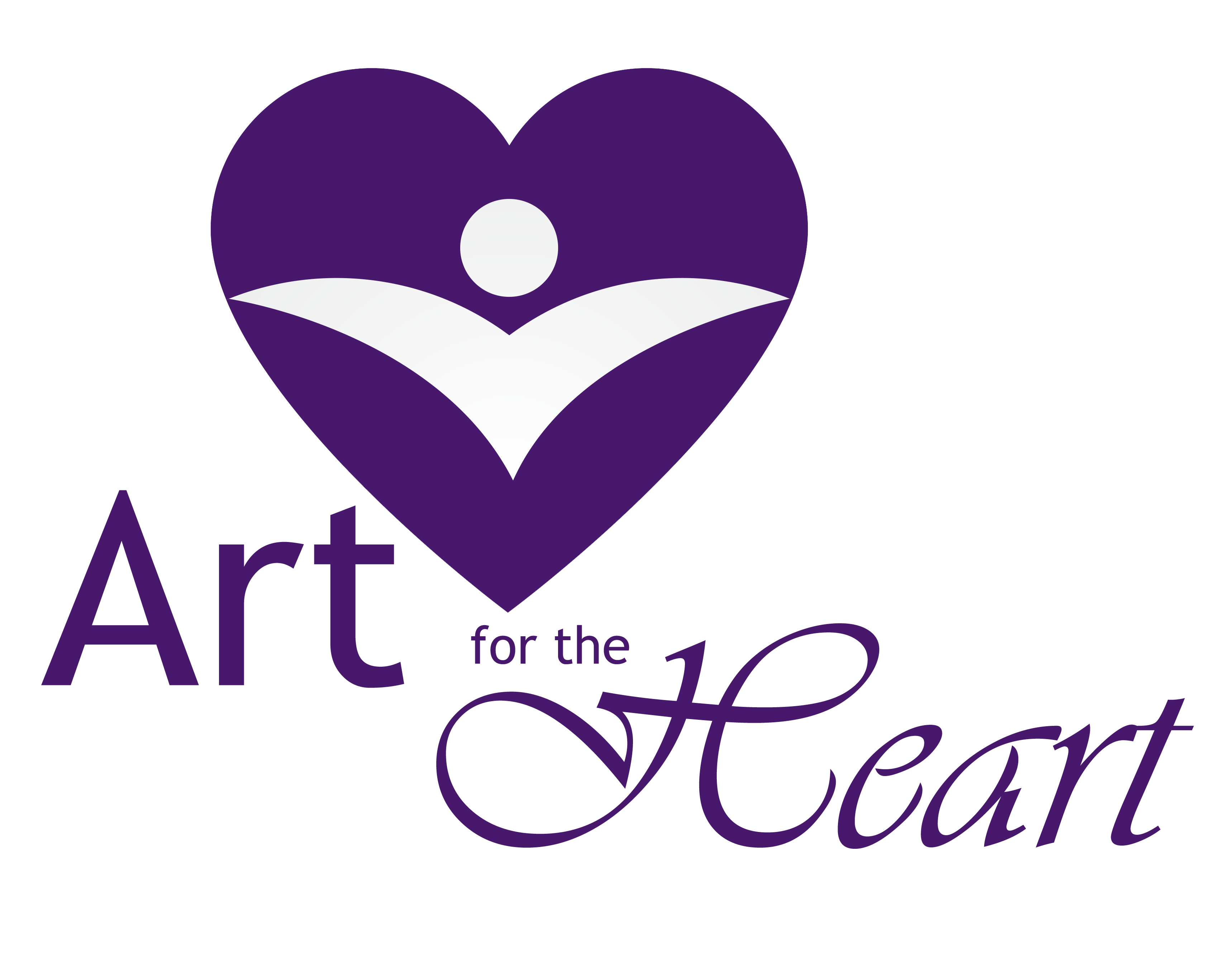 Community transparent heart. Art for the supports