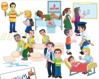 Community Work. Free service cliparts download