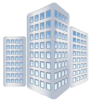 Transparent building business. Free company icon download