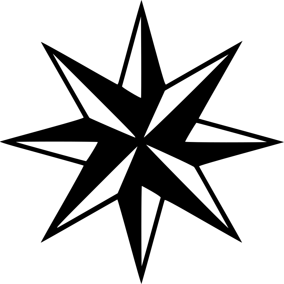 Compass arrow png. Direction directions rose svg