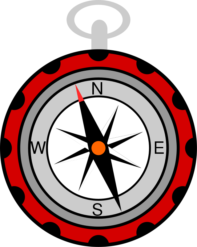 compass clipart red