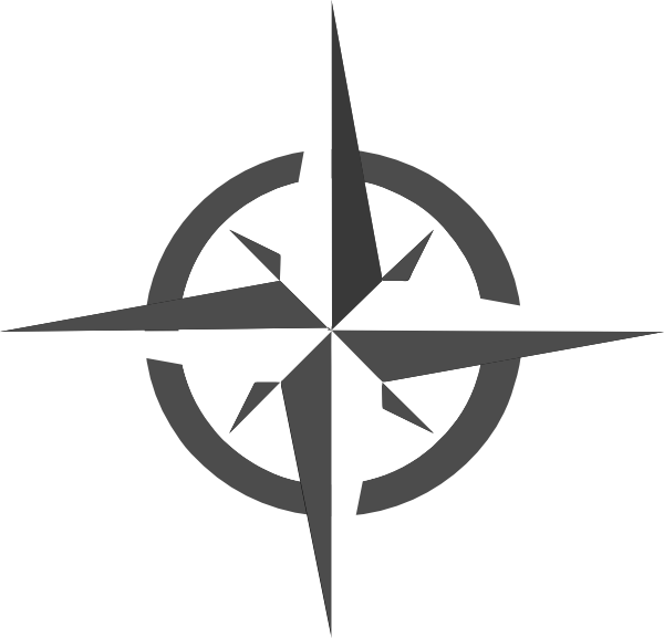 Compass vector png. White rose clip art