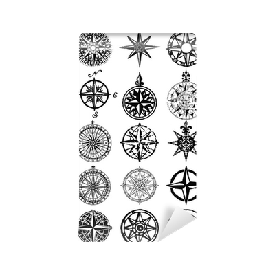 Vector wind pattern. Roses nautical compass grunge