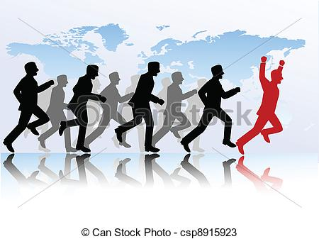 Competition clipart. Business people image royalty free stock
