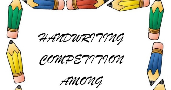 Competition clipart handwriting competition. International turkish hope school picture transparent