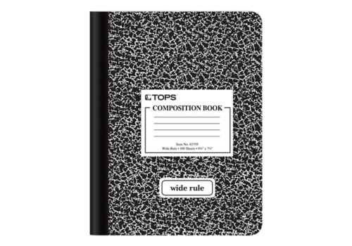 notebook transparent wide ruled