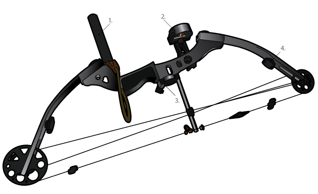 Compound bow png. And arrow transparent combat