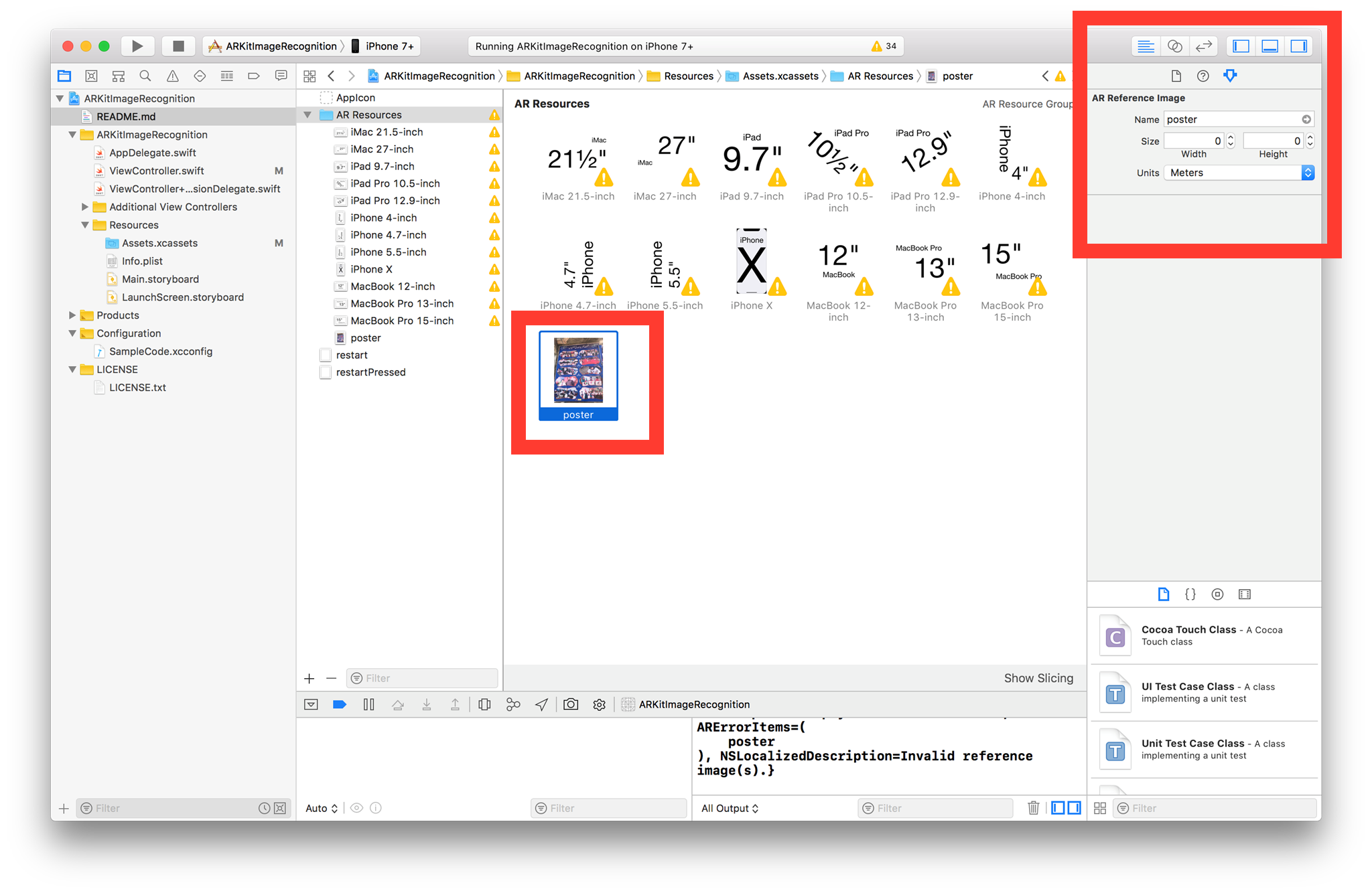 Compress png files error xcode. Ios invalid reference image