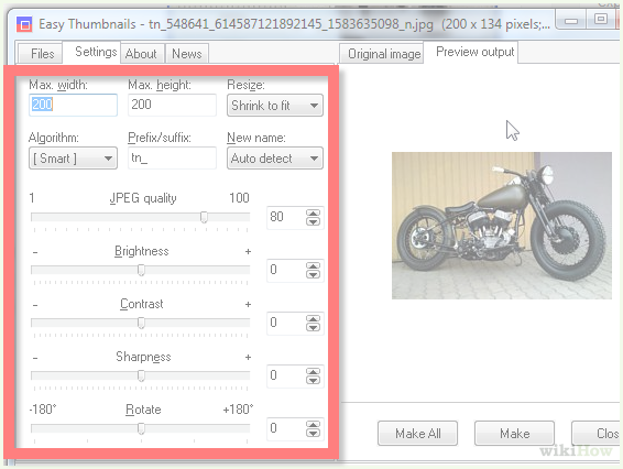 Compress png to jpg. How images using easythumbnails