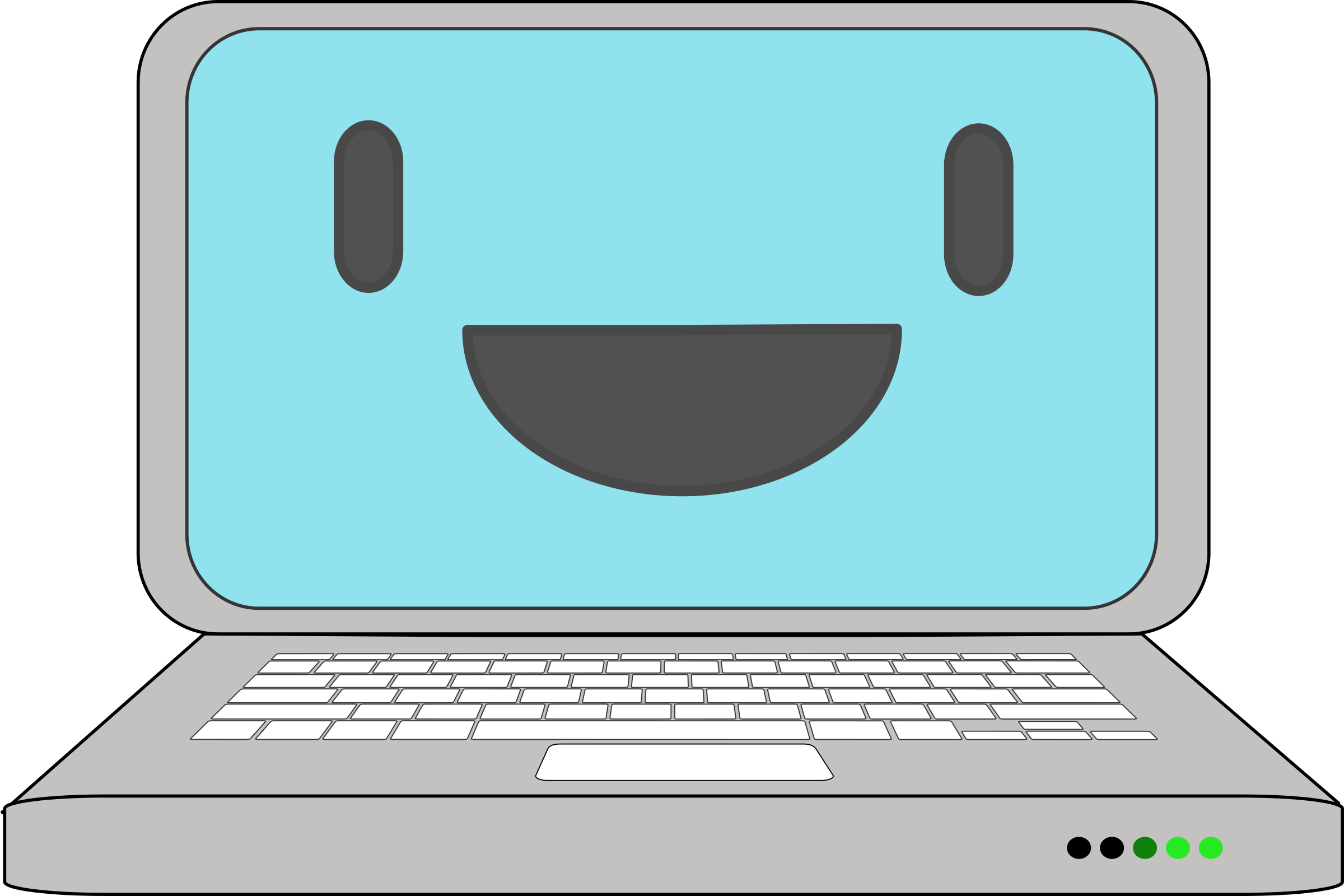 Computer cartoon png. Happy laptop icons free
