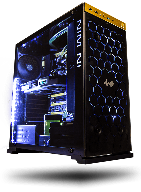 Pc case png. Inwin mid tower computer