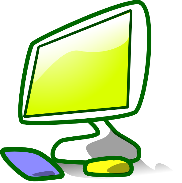 Computer clip animated. Free clipart download art