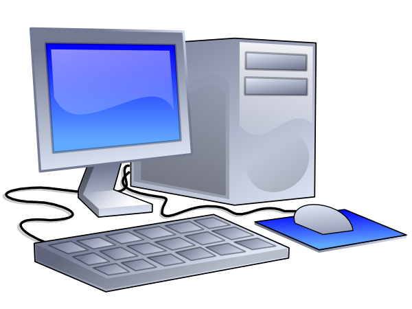 Computer clip art png. Desktop at clker com