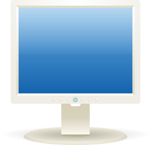 Vector screening pc screen. Computer lcd monitor clip