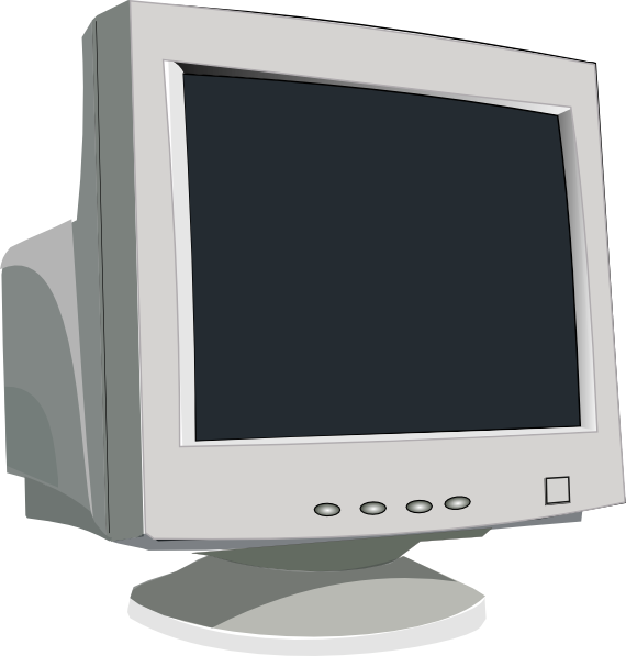 Computer clip monitor. Picture library stock