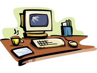 Computer clip office. Screen clipart pencil and