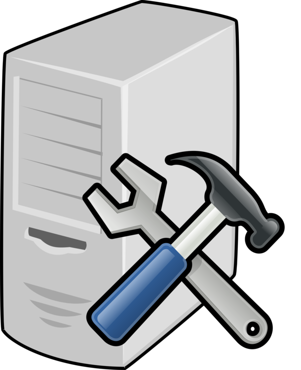 Computer clip repair. Servers icons database server