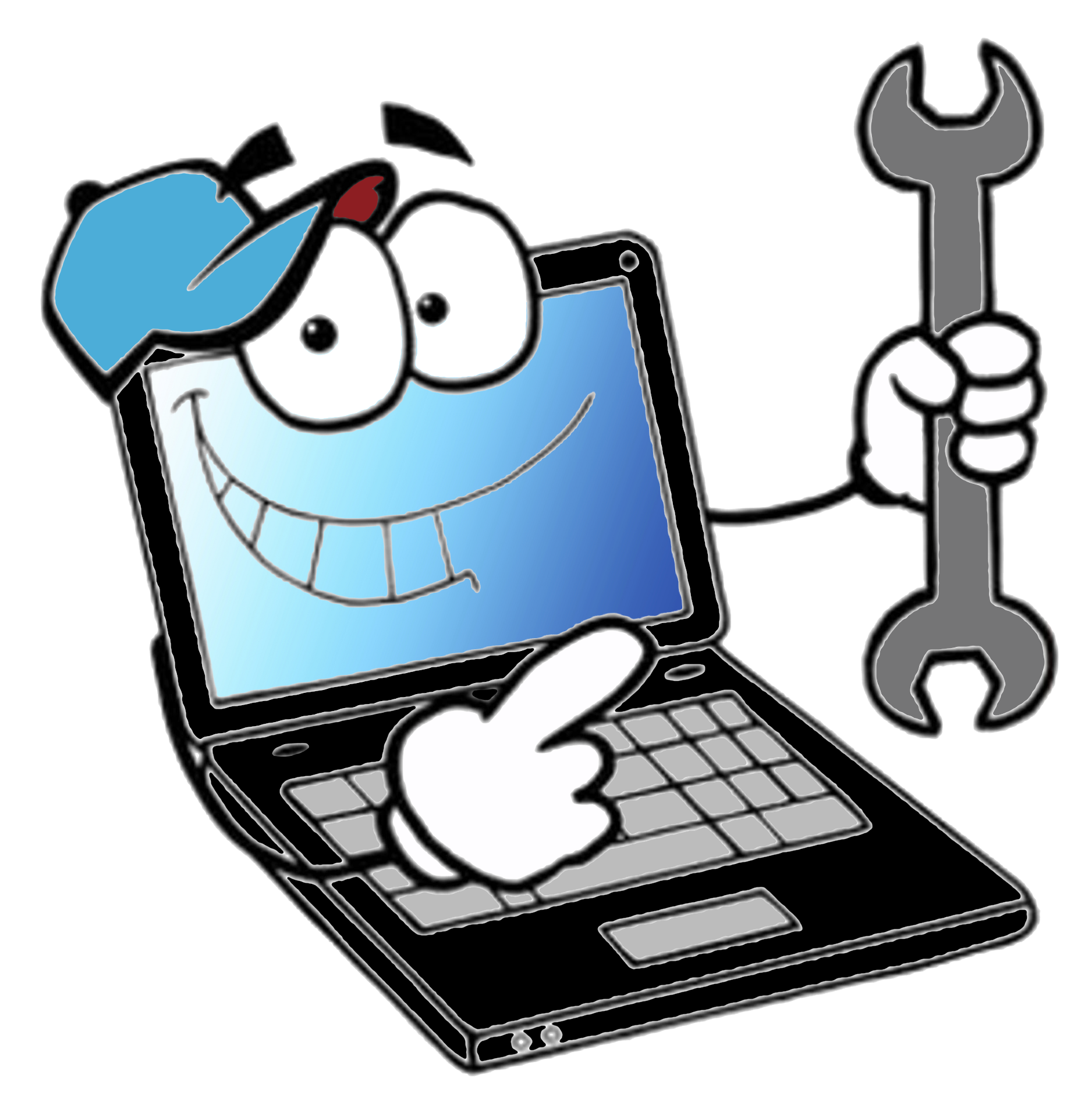Computer clip service. Repair picture library