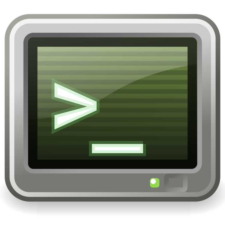Computer clip terminal. Shell command line interface