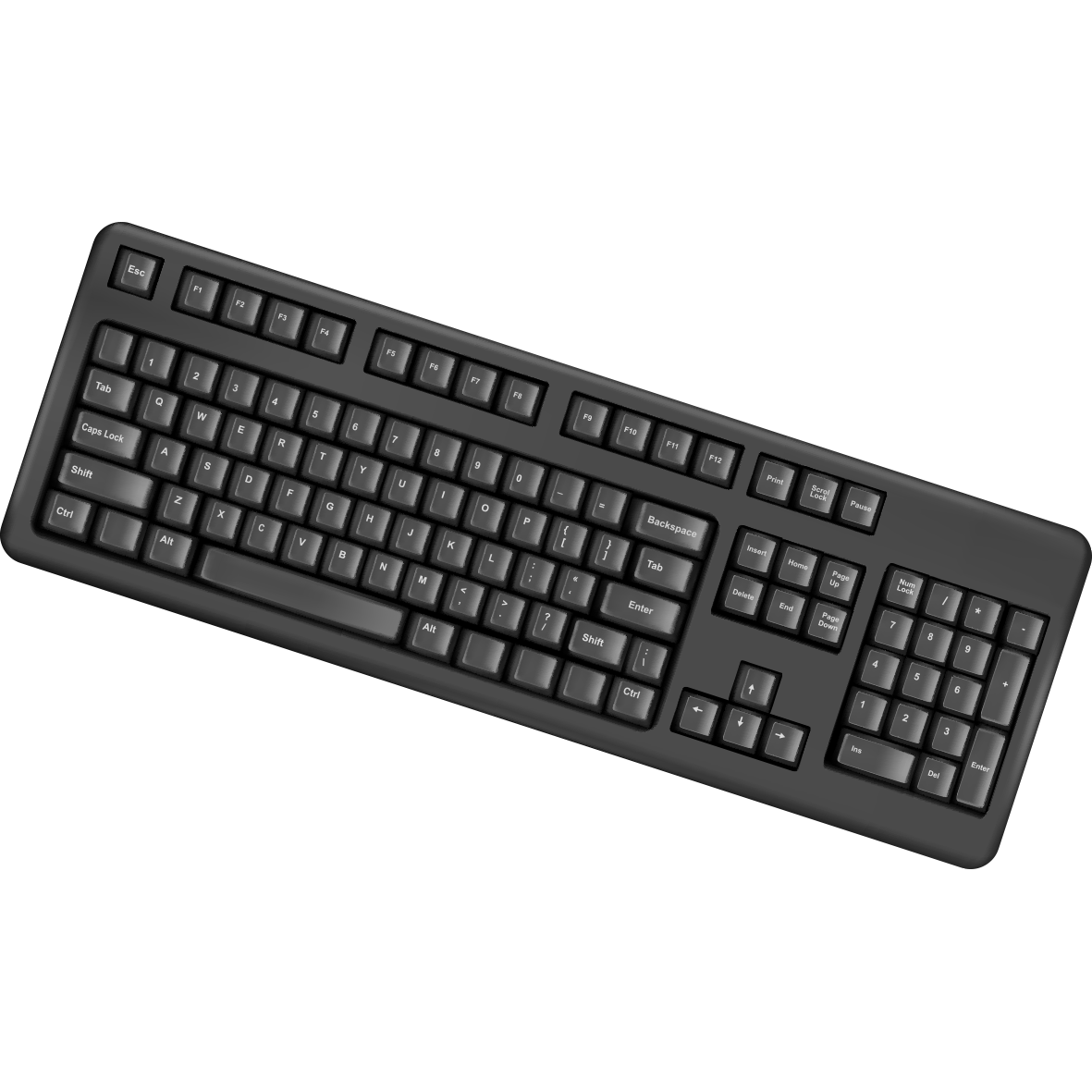 Computer keyboard png. Laptop ps port clip