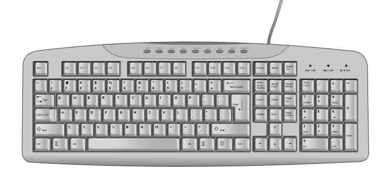 Computer keyboard png. Image us svg serious