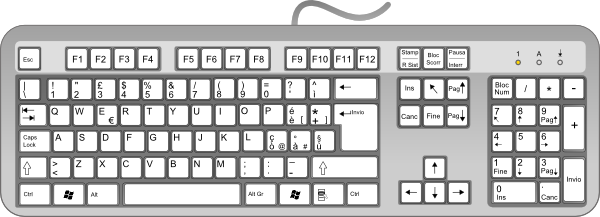 Computer keys png. Keyboard clipart