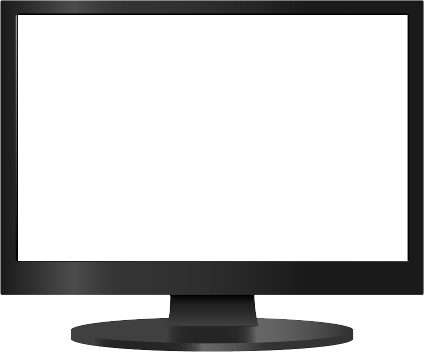 Monitor drawing silhouette computer