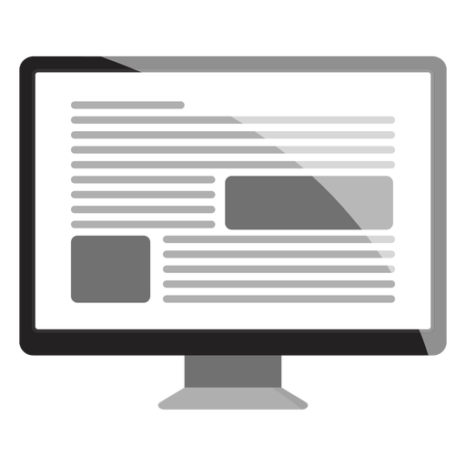 Computer monitor icon png. Transparent svg vector