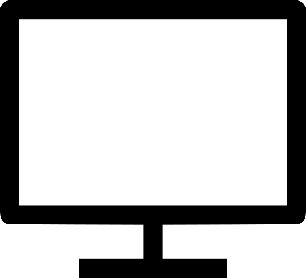 Computer monitor png. Screen svg icon free