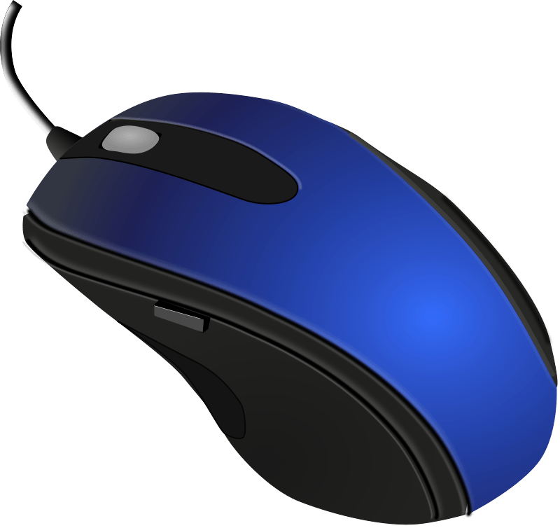Mouse png. Blue black computer transparent